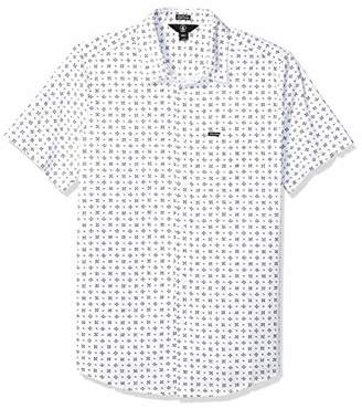 Volcom Men's Salt Dot Short Sleeve Button Up Shirt