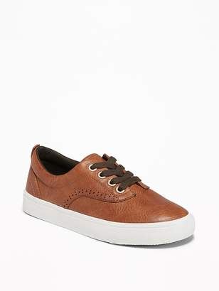 Old Navy Faux-Leather Brogue Sneakers for Boys