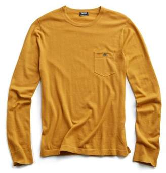 Todd Snyder Cashmere T-Shirt Sweater in Brass