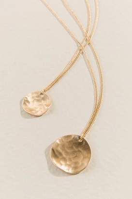 francesca's Mila Layered Coins Necklace in Gold - Gold