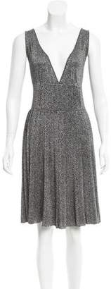Prada Metallic Pleated Dress