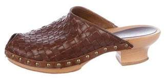 Henry Beguelin Leather Studded Clogs