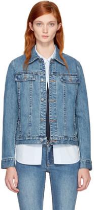 A.P.C. Indigo Denim Brandy Jacket $270 thestylecure.com