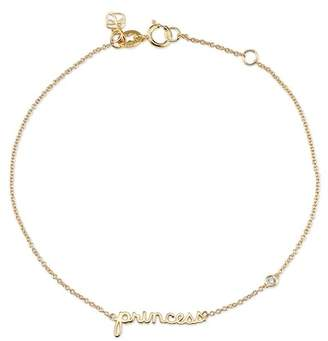 Sydney Evan Syd by 14K Yellow Gold Plated Sterling Silver Diamond 'Princess' Bracelet - 0.015 ctw