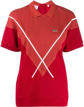Lacoste cross stripe polo shirt
