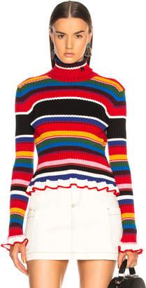 MSGM Striped Sweater in Multicolor | FWRD