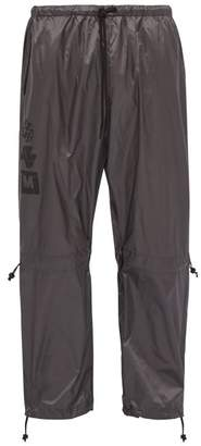 Marcelo Burlon County of Milan Multilogo Drawstring Track Pants - Mens - Grey