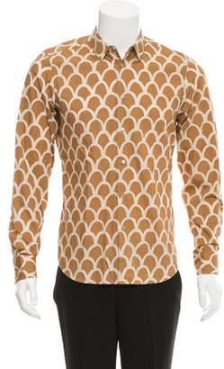 Miu Miu Geometric Print Button-Up Shirt