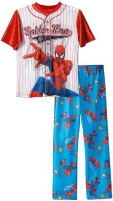 Marvel Boys Spiderman Baseball Jersey 2-piece Pajama Sleepwear Set , Kids