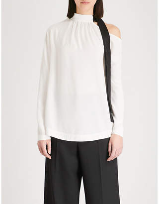 Mo&Co. Asymmetric crepe top