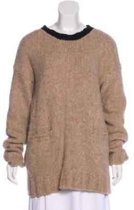 Marni Alpaca Knit Sweater Khaki Alpaca Knit Sweater