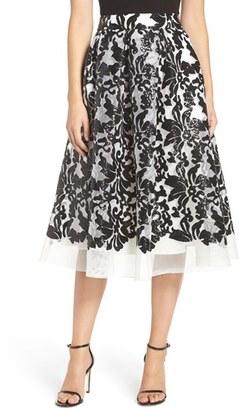 Women's Eliza J Sequin Mesh Midi Skirt $228 thestylecure.com