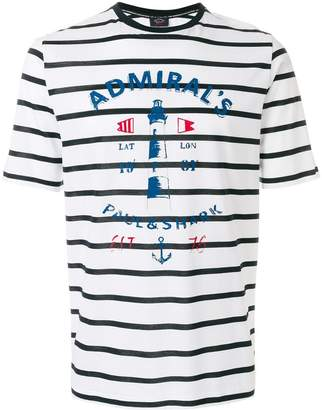 Paul & Shark striped logo T-shirt