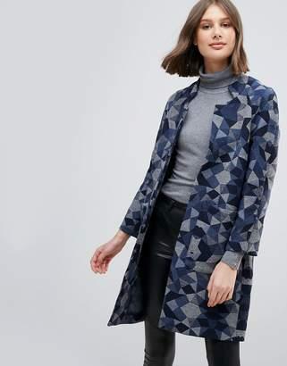 Pepe Jeans Geometrie Wool Blend Oversized Coat