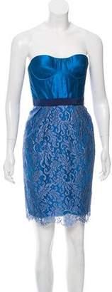 Matthew Williamson Eyelet Mini Dress