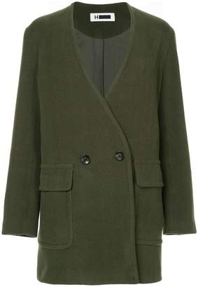 H Beauty&Youth double-breasted cocoon coat