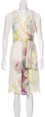 Valentino Silk Sleeveless Midi Dress