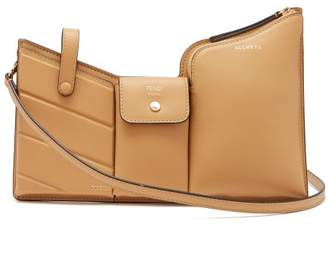 Fendi Pocket Mini Leather Cross Body Bag - Womens - Tan