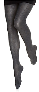 Fogal Performance Ribbed Tights: Grey