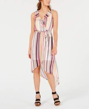 BCX Juniors' Multi-Stripe High-Low Dress
