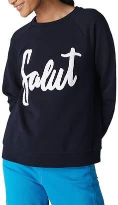Whistles Salut Embroidered Sweatshirt