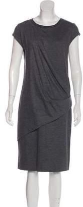 Brunello Cucinelli Draped Wool Dress