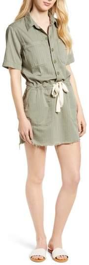 Drawstring Cotton Twill Dress
