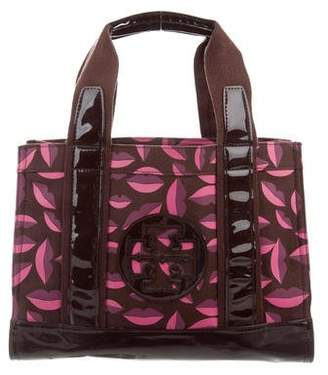 Tory Burch Leather-Trimmed Canvas Tote
