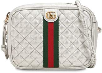 506f91bcd54947 Gucci Small Quilted Metallic Leather Bag
