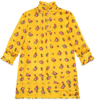 Children's rose bud print silk dress $1,100 thestylecure.com