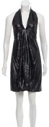 Roberta Furlanetto Silk Halter Dress w/ Tags