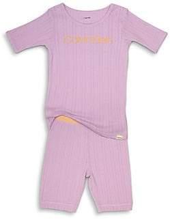 Calvin Klein Girl's Two-Piece Tee & Shorts Pajama Set
