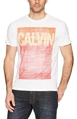 Calvin Klein Jeans Men's Short Sleeve Logo T-Shirt Pop Color Square Design