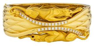 Carrera y 18K Diamond & Ruby Bestiario Bangle