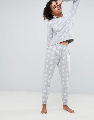 Asos Design LOUNGE Lip Print Jogger