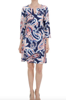 Aryeh V-Neck Paisley Dress