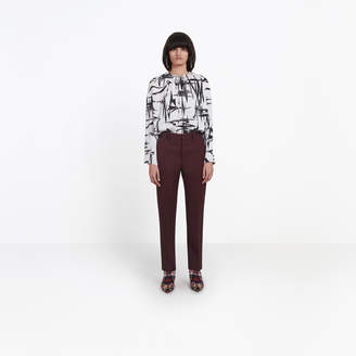 Balenciaga High frilled collar top with different wearing options