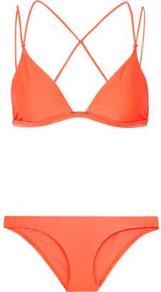 Dion Lee Fine Line Bikini - Bright orange