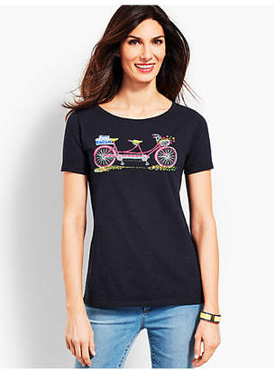 Talbots Double Seat Bicycle Tee