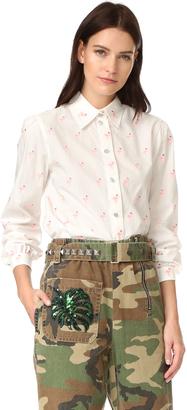 Marc Jacobs Flamingo Cotton Shirt $475 thestylecure.com