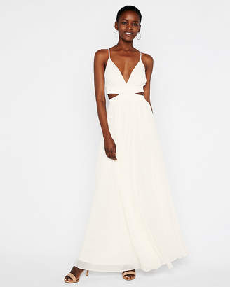 Express Elastic Waist Cut-Out Maxi Dress