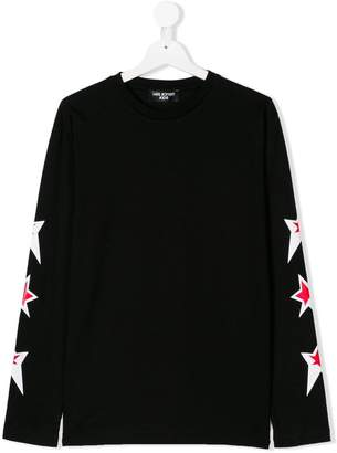 Neil Barrett Kids TEEN star print long sleeve T-shirt