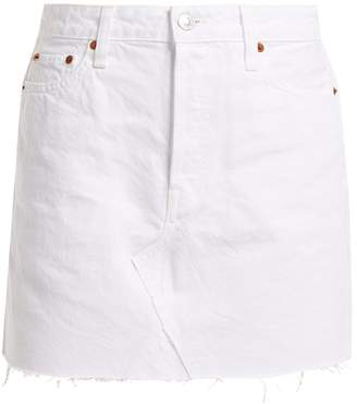 RE/DONE ORIGINALS Mid-rise denim mini skirt