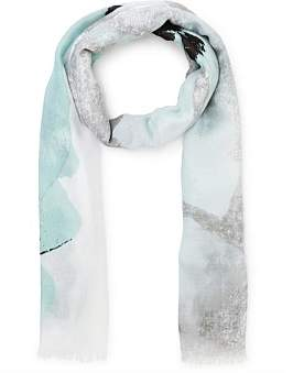 Gregory Ladner Muted Floral Scarf