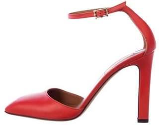 Valentino Leather Square-Toe Pumps