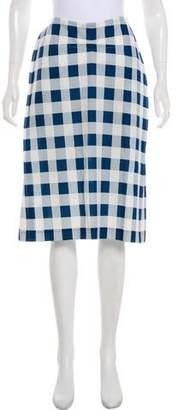 Derek Lam Knee-Length Gingham Skirt w/ Tags