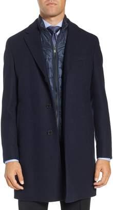 BOSS Nadim Trim Fit Wool Blend Overcoat