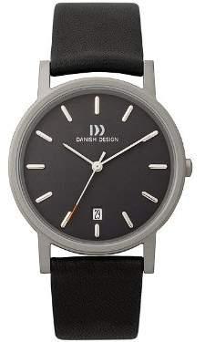 Danish Design IQ13Q171 Titanium Case Leather Band Dial Men's Watch