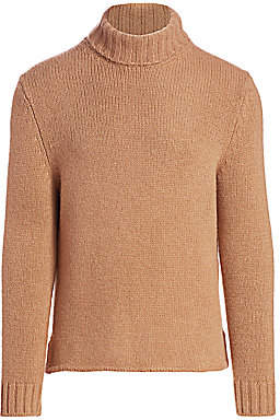 Ermenegildo Zegna Men's Camel Turtleneck