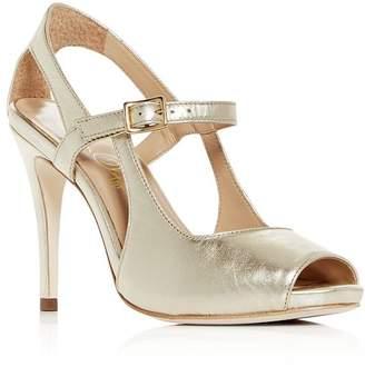 Joan Oloff Women's Gigi Leather Mary Jane High-Heel Sandals